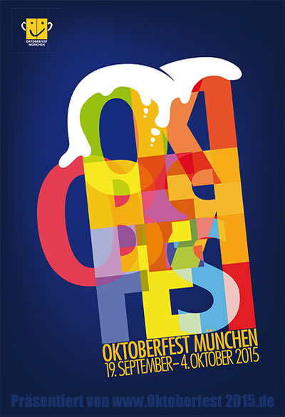 Neues Oktoberfestplakat - Wiesn 2015 in München - Munich official poster