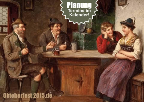 Termin zur Planung - Oktoberfest nach Jahren - Calendar with future dates of the Munich Oktoberfest